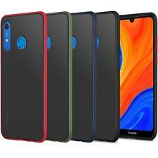 Para Huawei Y6, Y7, P Smart 2019, PC duro volver a Prueba De Golpes Armadura dura teléfono caso