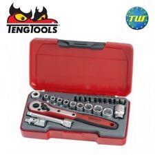 "Teng 24pc 1/4"" Drive Socket & Ratchet Set T1424"