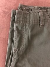 2 Pair Boys Pants Size 5 Gray ,Army Green