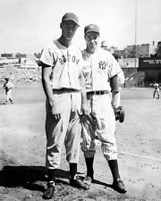 Yankees JOE DIMAGGIO & Red Sox TED WILLIAMS at Yankee Stadium Glossy 8x10 Photo