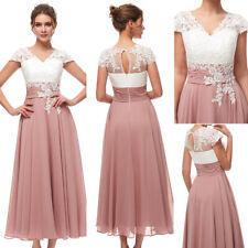 Mauve Plus Mother of the Bride Dress Formal Wedding Applique Party Evening Gowns
