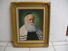 David Pelbam original signed  oil painting 'Jewish Rabbi'