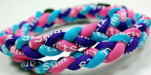 "NEW 20"" Pink Light Blue Purple Titanium Necklace Tornado Germanium FREE SHIPPING"