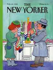 New Yorker COVER 02/29/1988 - Tie Shopping - WESTMAN