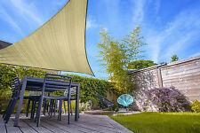 Outdoor Sun Shade Sail Tough Cloth DURASHIELD - STONE Triangle Sale 3m x 3m x 3m
