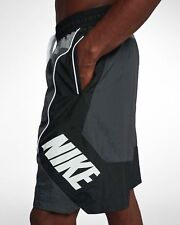 Mens Nike Throwback Basketball Shorts AJ3673-060 Anthracite/Black New Size 3XL