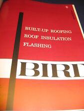 Bird & Son Built-Up Roofing 1965 Catalog Asbestos Felt