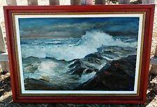 Original Impressionism  Oil Painting Seascape Monhagen Rockport LISTED SIGNED 68