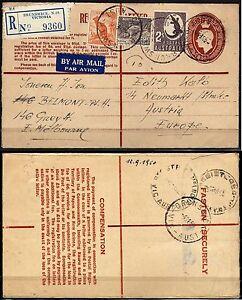 113 - Australia - Raccomandata via aerea per Austria, 1950