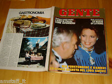 GENTE=1985/35=IRA FURSTENBERG=RANIERI=LUIS MIGUEL=SHEILA BAMBER=SANDRA MILO=