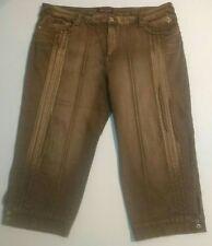 Women's Baby Phat Brown Stretch Capri Cropped Pants size  24