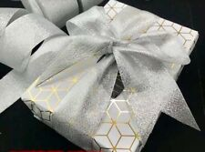 4M 50mm Silver Mesh Ribbons Formal Giftings/Cakes Decorations/Christmas Wrapping