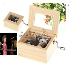 Wood Hand Crank Music Box :  Spirited Away-Always with you