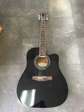 New York Pro Guitar 977CBK Acoustic Guitar Black with Bag Bundle