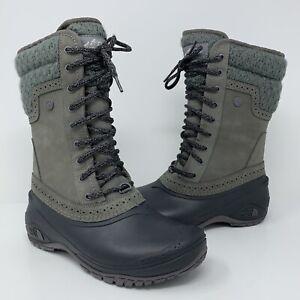 The North Face Shellista II Mid Plum Kitten Grey Phantom Boots Women's Sz 6 $140