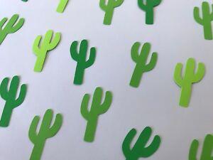 Green Cactus Confetti - Fiesta Birthday Decor - Southwest Decor - 300 pieces