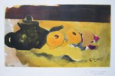 "GEORGES BRAQUE Hand Signed 1956 Original Color Etching - ""La Nappe Jaune"""