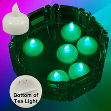 Usa Seller 12 pcs Led Green Floating Tealight Candle Wedding Party Flameless