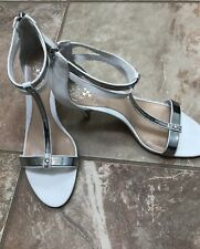 vince camuto Women's 6 White/silver Heels