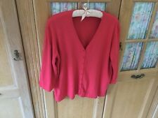 Windsmoor Ladies Cardigan Size L+ (Size 16/18) In Coral VGCondition