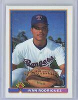 1991 Bowman #272 IVAN RODRIGUEZ Rookie RC (Rangers) HOF