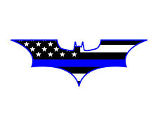 Thin Blue Line Flag Batman Bat  Police Support Vinyl Decal Sticker 2x5.7