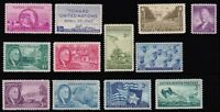 1945 Year Set of 12 Commemorative Stamps Mint NH - Stuart Katz