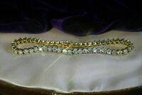 5.00 Ct Round Cut VVS2 Brilliant Diamond Tennis Ladies Bracelet 10k Yellow Gold