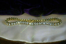 5.00 Ct Round Cut VVS2 Brilliant Diamond Tennis Ladies Bracelet 10k Yellow Gold