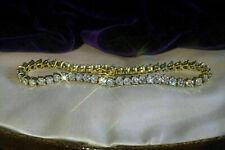 5.40 Ct Round Cut Brilliant Diamond Tennis Ladies Bracelet 14k Yellow Gold Over