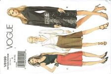 Vogue V8199 Slim Pencil Pleated Skirt 3 Styles Size 6-8-10