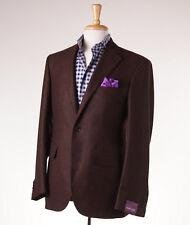 NWT $2995 SARTORIA PARTENOPEA Chocolate Brown Wool-Mohair Sport Coat 38 R (Eu48)