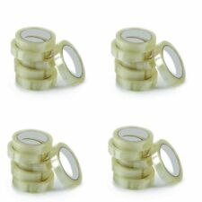 25 Tape Rolls Of Clear Strong Parcel Tape Packing Sellotape Packaging 24mm X 66m