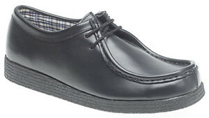 Mens Boys Classic Wallaby Style Coated Leather Shoe Sizes 2 Child to Adult 12