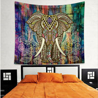 Indisch Elefant Mandala Tapisserie Wandteppich Wandbehang Yoga Matte Home Deko