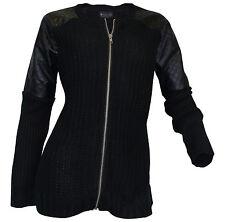 Grobe Damen-Pullover & -Strickware aus Acryl mit Reißverschluss