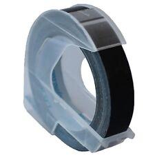 Dymo Schriftband Kassette Prägeband 3D, 9 mm x 3 m schwarz glänzend Präger Omega
