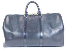 Louis Vuitton Keepall 45 Black Duffle Bag Suitcase Epi Leather Vintage Carry 270