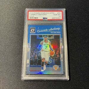 Carmelo Anthony - 2016 Donruss Optic Holo (PSA 10) Pop 2