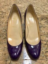 Christian Louboutin Purple Patent Leather Heels