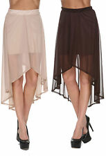 Polyester Mini Solid Regular Size Skirts for Women