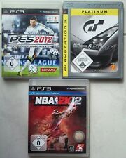NBA 2K12 2012 Basketball + Gran Turismo 5 Prologue + PES 2012 Sammlung PS3