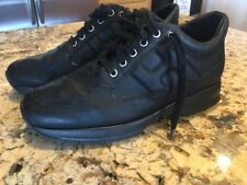 5a057938759 Hogan Interactive Men's Black Leather Sneakers Shoes Size 7.5