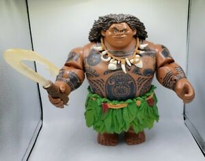 Disney Store Moana Talking Maui Doll Figure Light Up Fishhook
