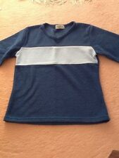 Girls v neck top. 2 blue shades. age 9/10 years .