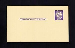 """UX46, UPSS #S63 Mint Postal Card """"PLATE FLAW"""" Below 3c"""