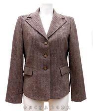 Veste MANOUKIAN T 40 L 3 Gris 2 poches à rabat 60% laine hiver TBE Blazer Jacket