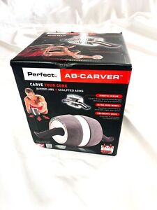 Perfect Fitness Ab Roller Carver Pro for Core Workouts - Grey