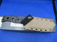 "Benchmade 375BKSN Adamas Fixed 4.2"" Black D2 Plain Blade, Desert Tan Sheath FULL"