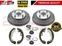 FOR FORD FIESTA 02-08 REAR BRAKE DRUMS BEARINGS HAND BRAKE SHOES SHOE SET